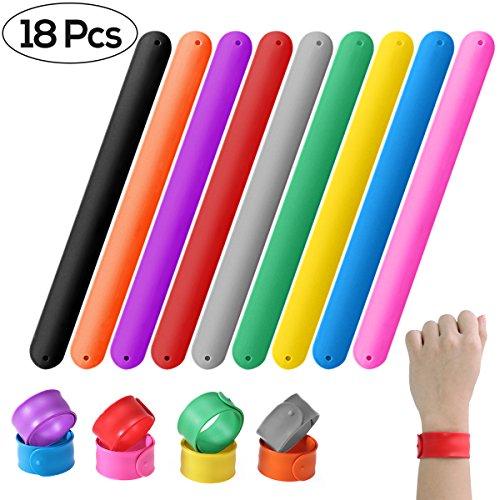 12pcs Random Unicorn Slap Bracelets Snap On Novelty Bracelets Gifts for Children