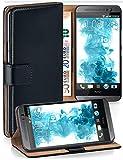 MoEx® Étui Folio à Support vidéo Compatible HTC One M8 | Fente pour Argent/Cartes, Noir