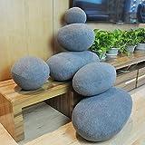 QTQZ Stein-Kissen,Kreative kieselsteine Kissen faul Sofa Mode futon-B 29x29x29cm(11x11x11inch)