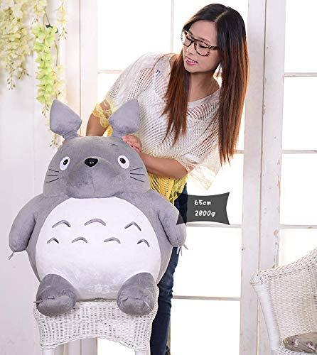 XPY Cute Grau Plüsch Mein Nachbar Totoro Ghibli Stofftier Plüschtier Kuscheltier Plüsch Figur Grinsender O Totoro,Grau,20cm