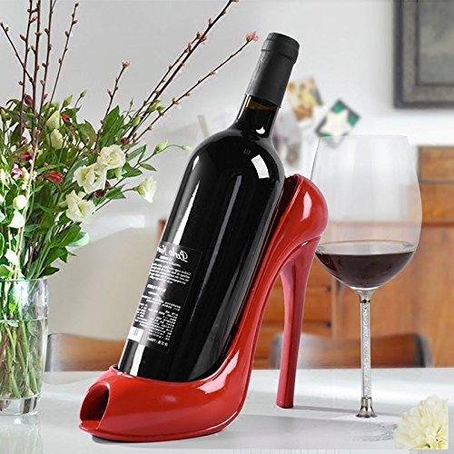 Unendlich ideal Home Decor Center High Heel Weinflaschenhalter Kleiderbügel rot Wein Rack Unterstützung Halterung Bar Zubehör Tisch Dekoration Modern Style (Wein-schuh-halterung)