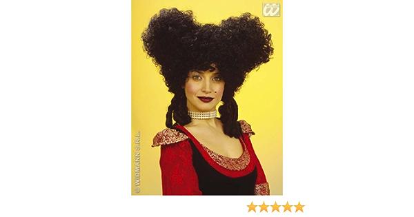 Ladies Black Baroque Style Wig Dutchess Pantomime Dame Fancy Dress