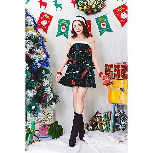SPFAZJ Santa Anzug Kostüm 2018 Erwachsene grün Weihnachtsbaum -