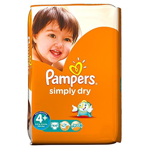 Pampers Simply Dry Wert Pack – Gr. 4 +, 44 Windeln