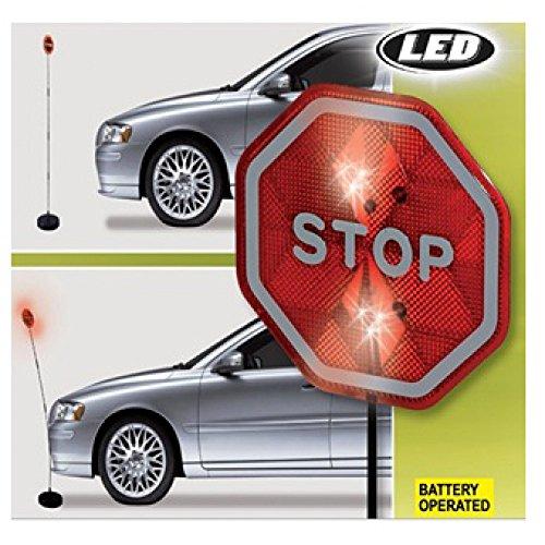 amara-global LED Einparkhilfe Parksignal Stoppschild Parkhilfe Auto Garage Stellplatz