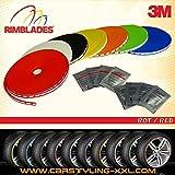 NEU - Rimblades mit 3M Kleber - Singlepackung - Farbe: rot - Premium Felgenschutz und Styling für Alufelgen bis 22'' ~~~~~ schneller Versand innerhalb 24 Stunden ~~~~~