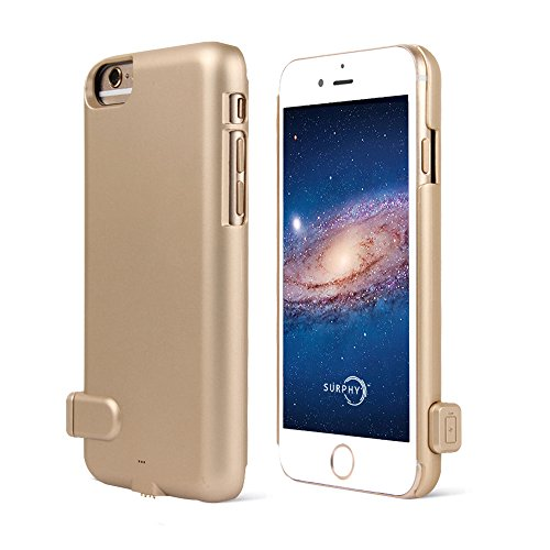 Preisvergleich Produktbild iPhone 7 Akku Hülle, SURPHY 1500mAh Externer Akku Powerbank Batterie Der dünnste Power Bank Ladegerät Case für Apple iPhone 7 4.7 Zoll,Gold