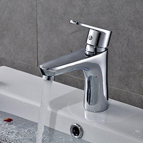 Preisvergleich Produktbild Auralum® 2 Jahre Garantie Mischbatterie Wasserhahn Armatur Waschtischarmatur Wasserfall Einhandmischer für Bad Waschbecken Keramik Kartusche
