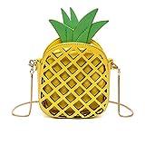 ananas crossbody tasche, frauen pu - leder umhängetasche beutel telefon cluth handtasche weihnachts geschenk