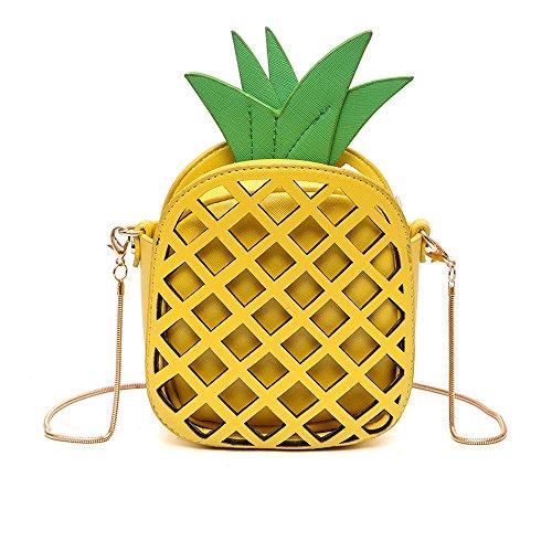 (ananas crossbody tasche, frauen pu - leder umhängetasche beutel telefon cluth handtasche weihnachts geschenk)