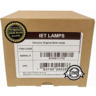 IET Lamps - Genuine Original Replacement bulb/lamp with Housing for PANASONIC PT-FD500 (DUAL LAMP) Projector (USHIO Inside)