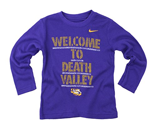 Nike NCAA Little Boys Kinder Thermo-Shirt LSU Tiger lange Ärmel, Violett, Jungen, Purple #2 (Lsu Mädchen Tigers)
