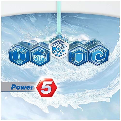 Domestos Power 5 WC-Stein für ein sauberes WC Ocean mit Anti-Kalk-Schutz 9er Pack ( 9 x 55 g)
