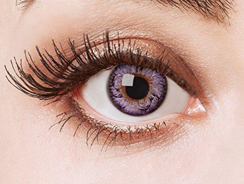 ila Cosplay Circle Lenses farbige Kontaktlinsen ohne Stärke farbig bunte Jahreslinsen für den Big Eyes Effect 12 Monatslinsen für Manga Puppenaugen (Lila Kontaktlinsen)