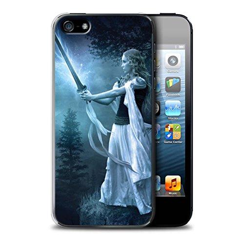 Officiel Elena Dudina Coque / Etui pour Apple iPhone 5/5S / Amazona Design / Super Héroïne Collection Épée Magique