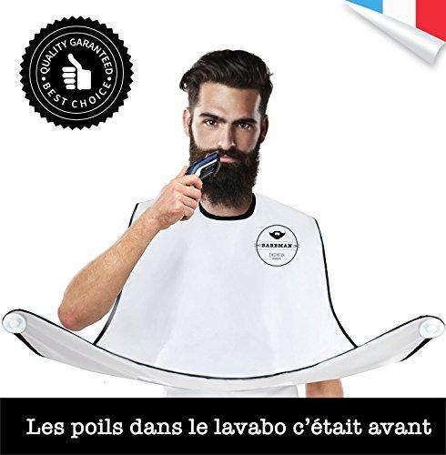 BARBMAN : Die Schürze den Bart zu rasieren, ohne Haare, ideales Geschenk für Hipster Bart verlassen (Geprüft Schürze)