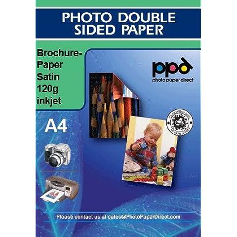 Papel de impresión para folletos Papel satinado de doble cara X 100 Hojas 120g A4