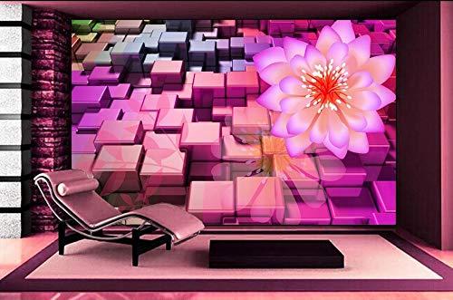 Nevso 3D Tapete Wandmalerei Fresko Wandaufkleber Fantasy Bunte Mode Blumen 3D Wallpaper Tv Hintergrundbild Das Wohnzimmer Sofa Hintergrund Wandmalerei300cmX210cm