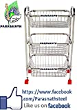 #8: Parasnath square vegetable and fruit trolley , 3 stand , 24 inch