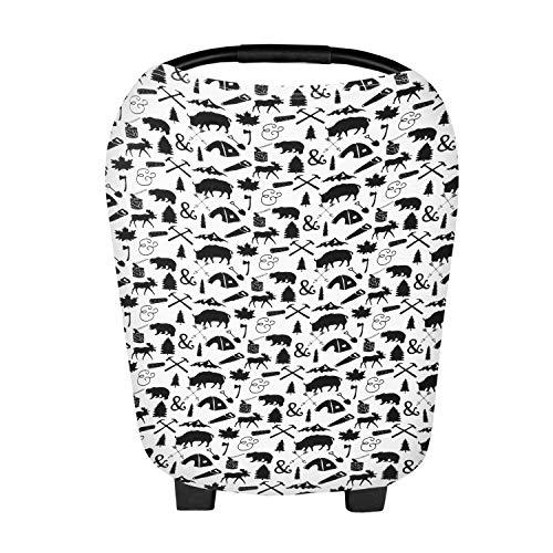 Zooawa Poncho per Allattamento Baby Passeggino Cover Sciroppo di allattamento al seno Animali
