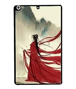PrintVisa Designer Back Case Cover for Apple iPad Mini 2 (Gorgeous look in Red dress)