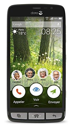 Doro Liberto 825 LTE Smartphone (12,7 cm (5 Zoll) Touch-Display, 8 GB Speicher) schwarz