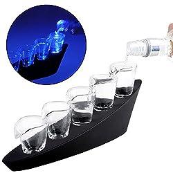Monsterzeug Domino Schnapsgläser, Batteriebetrieb Led Gläser, 5 Shot Gläser Mit Beleuchtung, Deko Schnapsglas, Orignelle Schnapsgläser, Party Zubehör