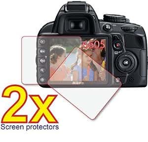 GUARMOR - 3 x Nikon D3100 D3000 digitale SLR fotocamera digitale pellicola protettiva per schermo LCD Protezione kit di, non (3 pezzi)