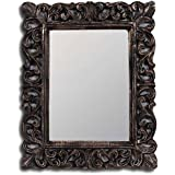 A.R Handicraft Decorative Mirror (Square Finish : Glossy) Brown