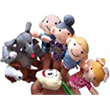 Homgaty Animals Finger Puppets - The Enormous Turnip Story Telling Nursery Fairy Tale Perfect Kids Gift Set Of 8