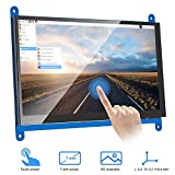 VANYE Pantalla Táctil Capacitiva Resolución LCD 1024 x 600 Monitor HDMI de 7 Pulgadas para...