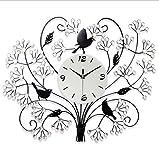 Reloj De Pared De La Sala De Estar Reloj De Pared De Reloj De Cuarzo De Metal Luminosa Simple Creativo,White