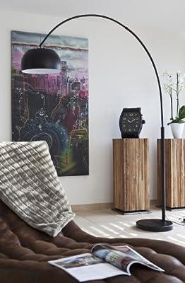 SalesFever Bogenlampe schwarz lackiert mit Dimmer Big Deal von SalesFever bei Lampenhans.de