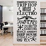 Citation 3d Autocollant Mural Amovible Autocollant Watercolo Décor Salon Chambre Amovible Art Stickers Café L 43cm X 85cm