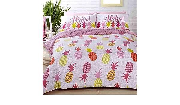 Aloha Ananas /à Pois Rose M/élange de Coton Housse Couette Simple