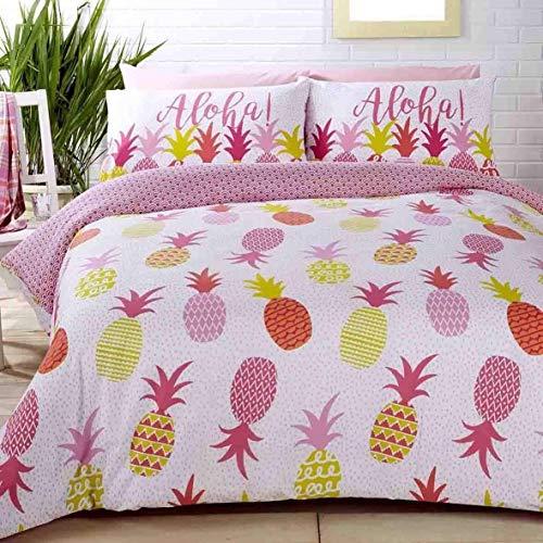 Aloha Ananas Gepunktet Pink Baumwollmischung Einzelbett Bettbezug