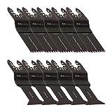 10 DeWalt Multifunktionswerkzeug Zubehör Black & Decker Holz Schnellentriegelung, Doppelsatz-2e Stanely FatMax WORX Sonicrafter Hyperlock von KROP