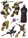 7 tlg. Set Fensterbilder - Teenage Mutant Ninja Hero Turtles - Sticker Fenstersticker Aufkleber - selbstklebend + wiederverwendbar - Fensterbild / z.B. für Fenster und Spiegel - Fensterdeko Fensterfolie Kinderzimmer Deko Kinder Jungen Schildkröten