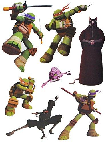 (7 tlg. Set Fensterbilder - Teenage Mutant Ninja Hero Turtles - Sticker Fenstersticker Aufkleber - selbstklebend + wiederverwendbar - Fensterbild / z.B. für Fenster und Spiegel - Fensterdeko Fensterfolie Kinderzimmer Deko Kinder Jungen Schildkröten)