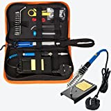 Ocamo 60 W E Eisen-Set High Temperature Resistant Lötkolben Toolkit Repair Tool, mit Reinigungstuch Aufbewahrungstasche 110v Us Regulations