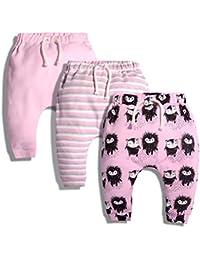 ARAUS Baby Hose Jungen Haremshosen Mädchen Strampelhose Herbst Baumwolle 3er Pack 6-36 Monate