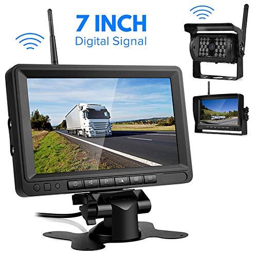 Digitale Übertragung Rückfahrkamera Drahtlos,Directtyteam Funk Rückfahrkamera 28 IRS für Anhänger, RV, Bus, LKW, Pferdeanhänger, Schulbus (Digitale Übertragung) (7) Pferd Anhänger-Überwachung