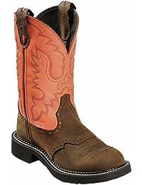 Justin BootsL9907 - Botas De Vaquero Mujer Marrón Bay Apache Talla:39.5 EU / 9.5