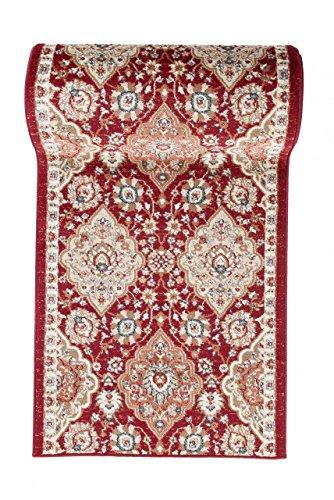 Läufer Teppich Flur in Rot - Orientalisch Klassischer Muster - Brücke Läuferteppich nach Maß - 100 cm Breit - AYLA Kollektion von Carpeto - 100 x 500 cm