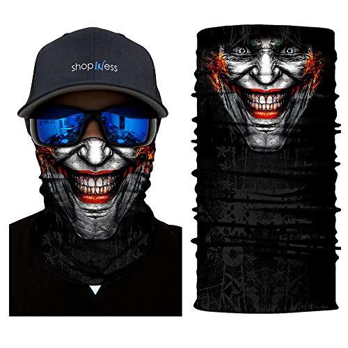 ShopINess Pañuelo Braga Multifunción - Smiling Joker
