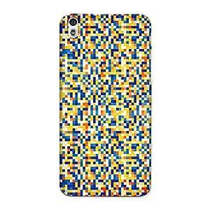CrazyInk Premium 3D Back Cover for HTC 816 - Pixels