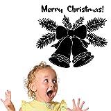 Applikation Große Weihnachten Jngle Glocken Vinyl Wandaufkleber Frohe Weihnachten Hause Zimmer Neu Dekorativ Mit Zitaten Wandtattoo Wandbildcm xcm