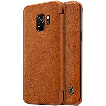 Nillkin Qin Series Royal Leather Flip Case Cover for Samsung Galaxy S9 (BROWN)