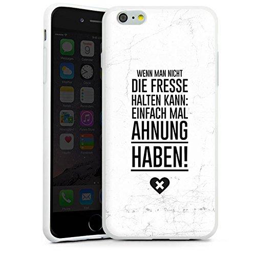 Apple iPhone X Silikon Hülle Case Schutzhülle Lustig Humor Sprüche Silikon Case weiß