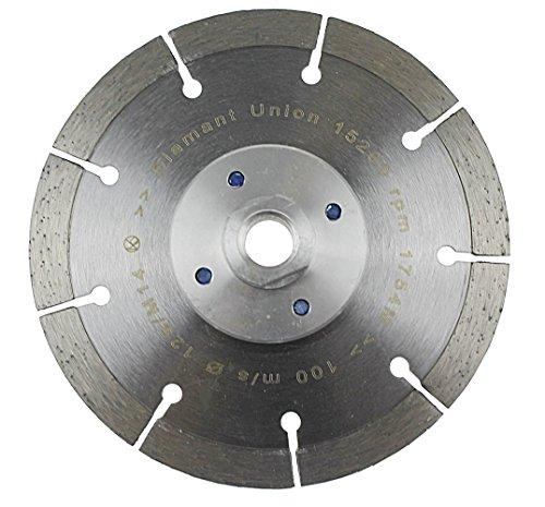 Diamantscheibe 125 mm mit Flansch M14 Trennscheibe randnah schneiden bündig schneiden